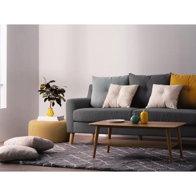 Evan 3 Seater Sofa with Evan 2 Seater Sofa - Charcoal Grey - 1