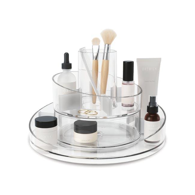 Cascada Round Cosmetic Organiser - Clear - 0