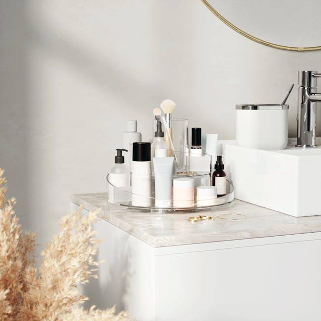 Cascada Round Cosmetic Organiser - Clear - 7