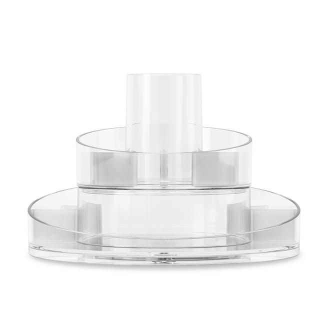 Cascada Round Cosmetic Organiser - Clear - 5