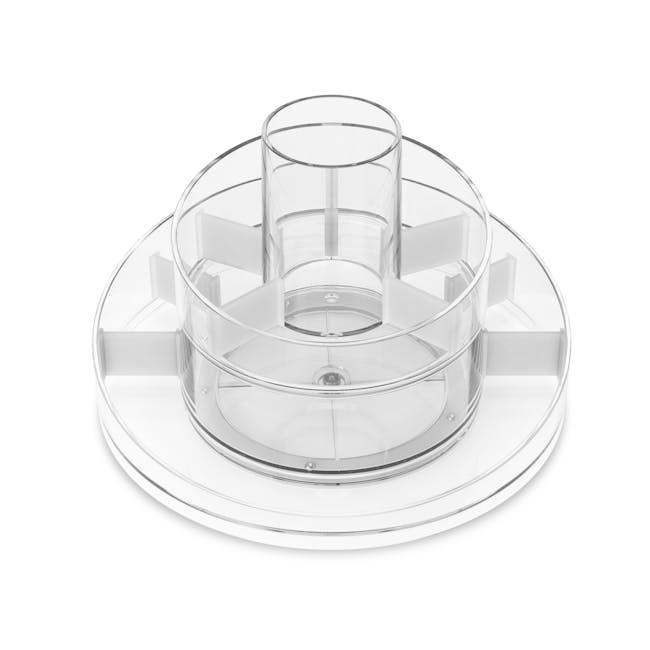 Cascada Round Cosmetic Organiser - Clear - 1