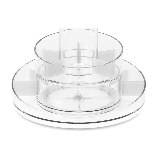 Cascada Round Cosmetic Organiser - Clear - 3