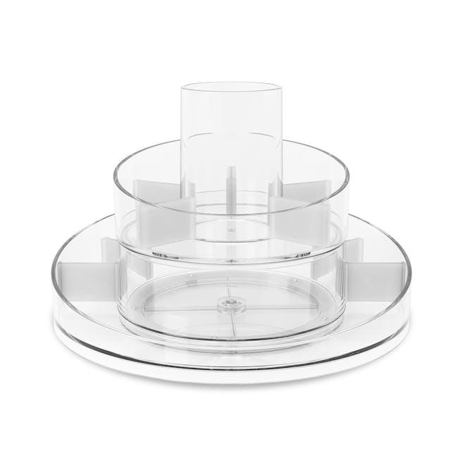 Cascada Round Cosmetic Organiser - Clear - 2