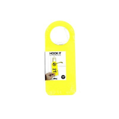 Hook It Doorknob Memos - Yellow - Image 1