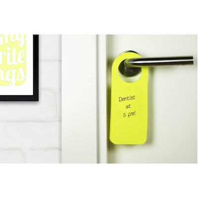 Hook It Doorknob Memos - Yellow - Image 2