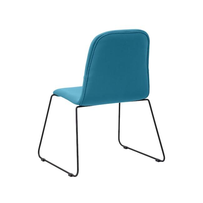 Ava Dining Chair - Matt Black, Emerald - 7