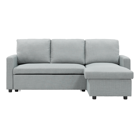 Mia L Shape Sofa Bed With Storage Silver