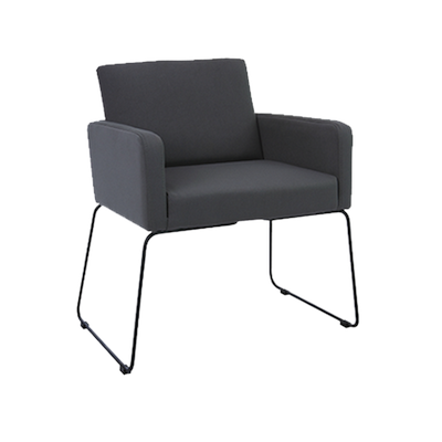Delma Dining Chair - Matt Black, Paloma - Image 1