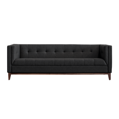 Atwood 3 Seater Sofa - Dark Grey Cashmere - Image 1