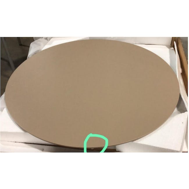 (As-is) Ralph Round Dining Table 1m - Natural, Taupe Grey - 3 - 1