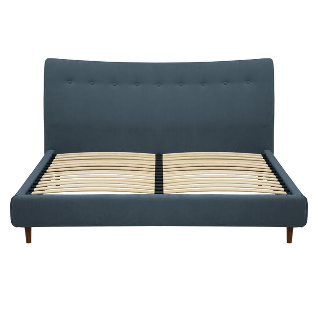 Ronan Queen Bed in Midnight with 2 Weston Bedside Tables - 5