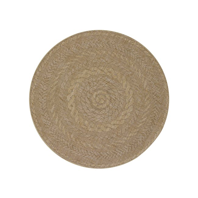 Timber Round Flatwoven Rug 1.2m - Brown - 0
