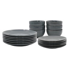 EVERYDAY 18-Pc Dinnerware Set - Dark Grey