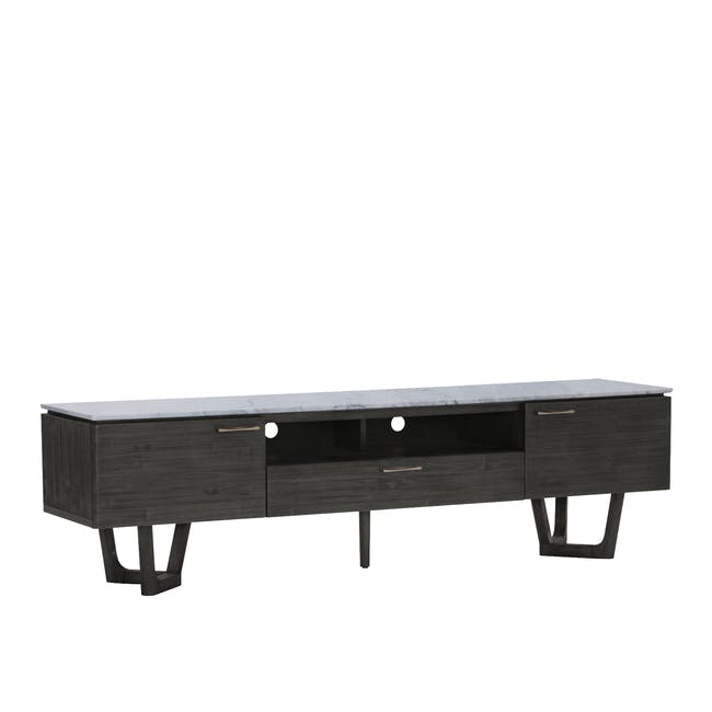 Carson Marble TV Console 2m with Carson Marble Coffee Table - 5