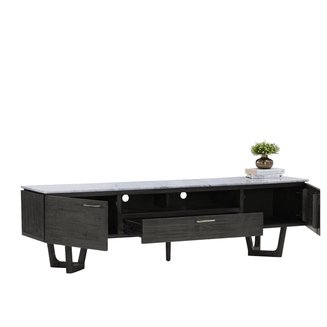 Carson Marble TV Console 2m with Carson Marble Coffee Table - 6