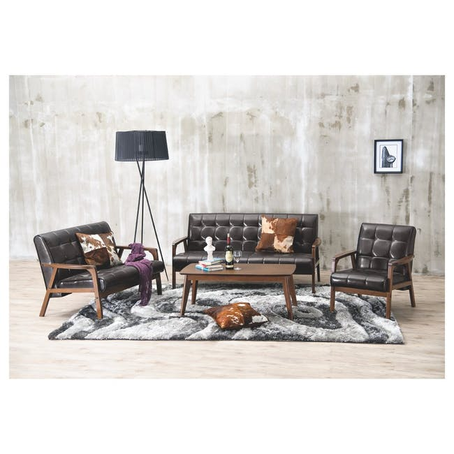 Tucson 3 Seater Sofa with Tucson Armchair - Espresso - 10