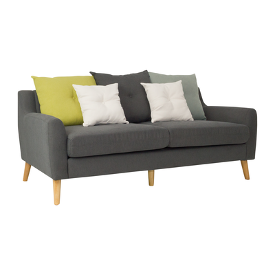 Evan 3 Seater Sofa w/ Cushions - Granite