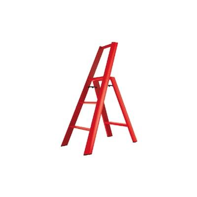 Hasegawa 3 Step Aluminium Ladder – Red - Image 1