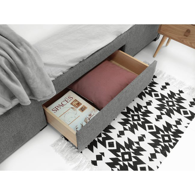 Lexi Queen 3 Drawer Bed - Shark Grey (Fabric) - 3