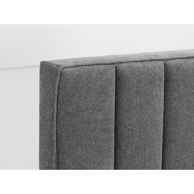 Lexi Queen 3 Drawer Bed - Shark Grey (Fabric) - 5