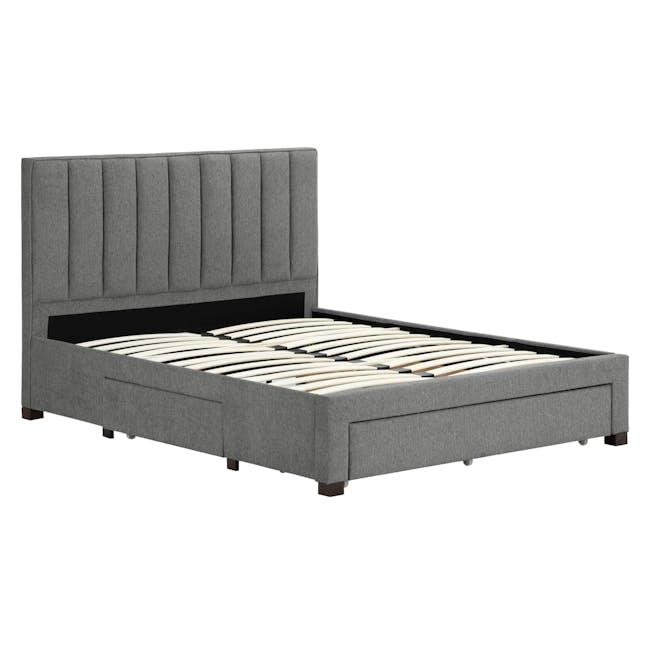 Lexi Queen 3 Drawer Bed - Shark Grey (Fabric) - 8