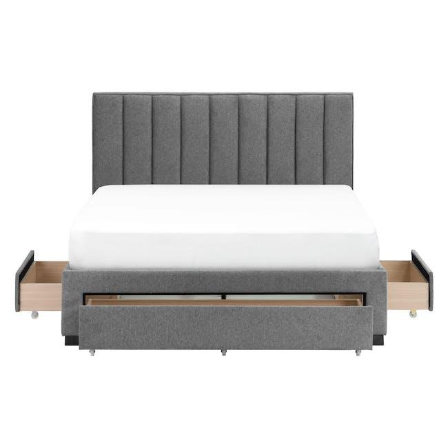 Lexi Queen 3 Drawer Bed - Shark Grey (Fabric) - 2