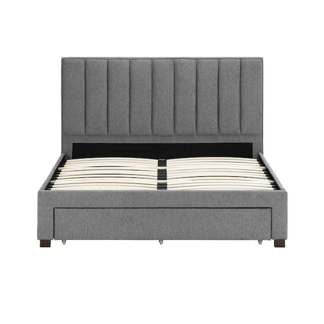 Lexi Queen 3 Drawer Bed - Shark Grey (Fabric) - 7