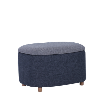 Galio Small Storage Pouf - Midnight Blue - Image 1