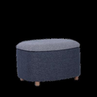 Galio Small Storage Pouf - Midnight Blue - Image 1