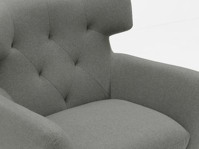 (As-is) Agatha Armchair - Granite - 1 - Image 2