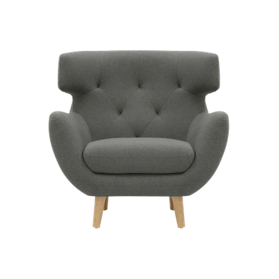 (As-is) Agatha Armchair - Granite - 1 - Image 1