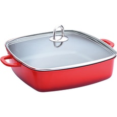 Lamart Roaster With Glass Lid - Red
