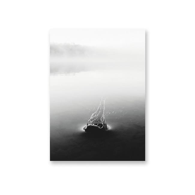 Borderless Monochrome Art Print on Paper (2 Sizes) - Drip - 0