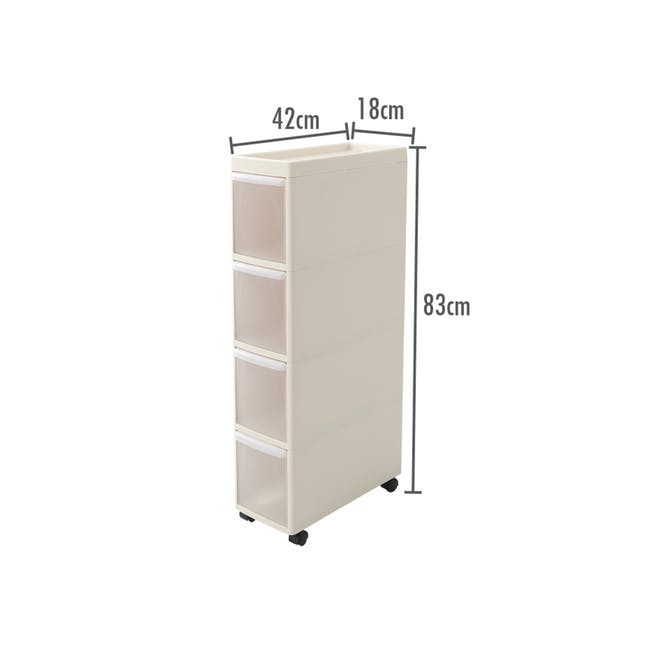 Modular 4 Tier Cabinet with Wheels - 1