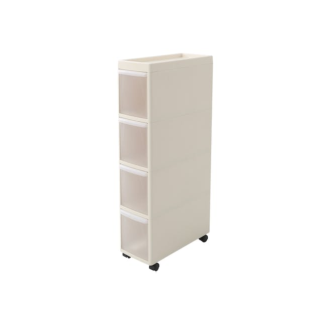 Modular 4 Tier Cabinet with Wheels - 0