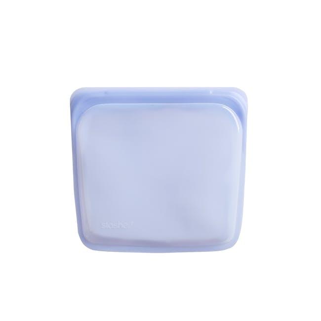 Stasher Reusable Silicone Bag - Sandwich - Amethyst - 0