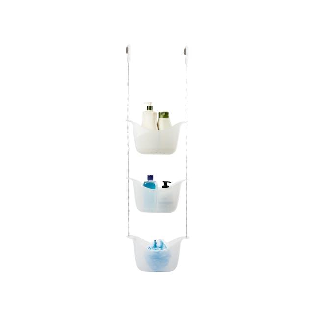 Bask Shower Caddy - White, Nickel - 0