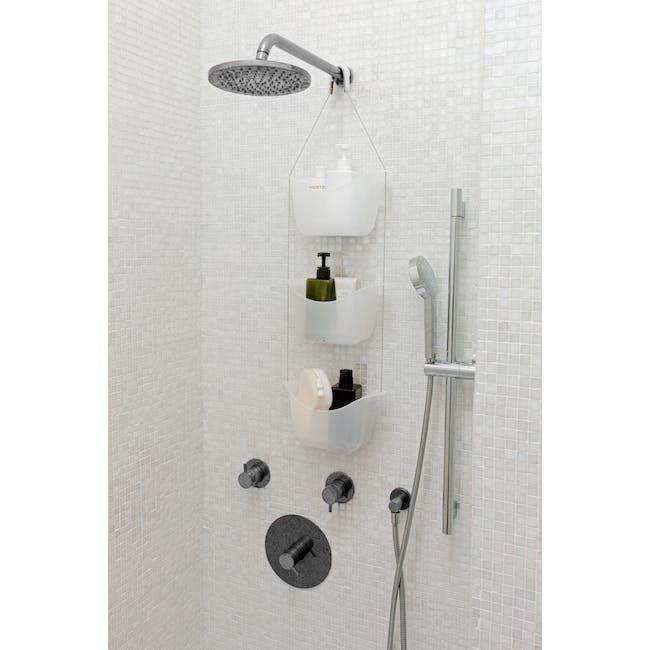 Bask Shower Caddy - White, Nickel - 5