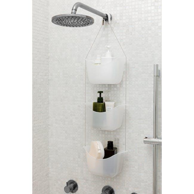 Bask Shower Caddy - White, Nickel - 4