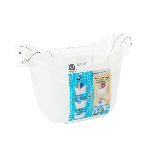 Bask Shower Caddy - White, Nickel - 1