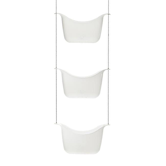 Bask Shower Caddy - White, Nickel - 3