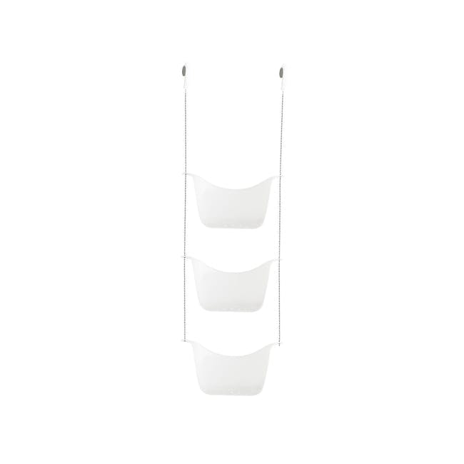 Bask Shower Caddy - White, Nickel - 2