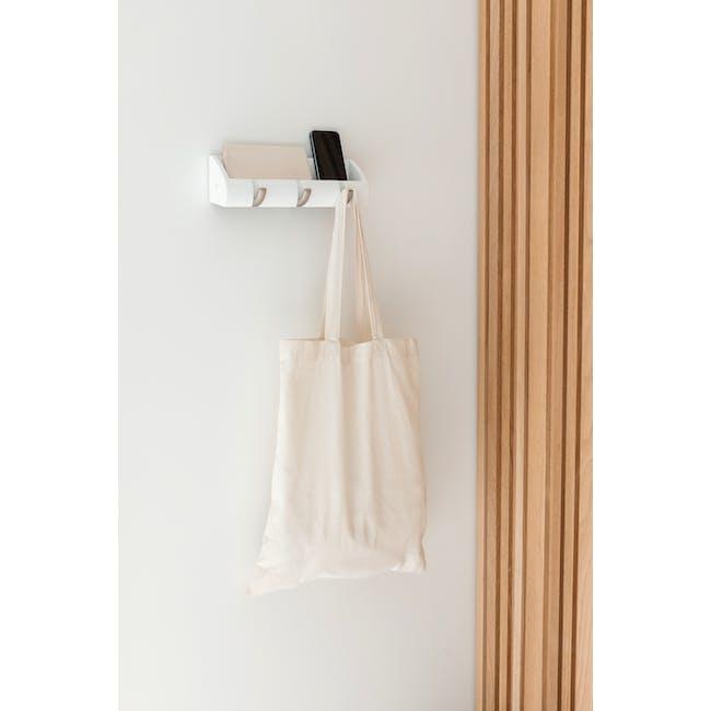 Cubby Mini Key Hook & Organiser - White - 5