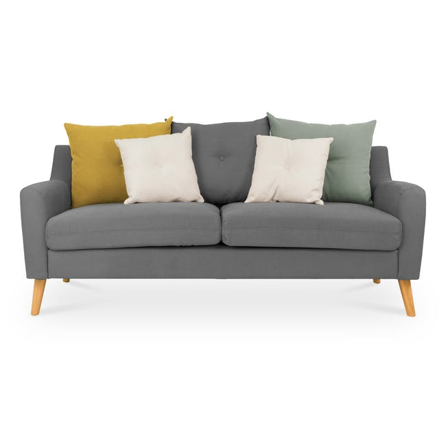 Evan 3 Seater Sofa - Charcoal Grey - 0