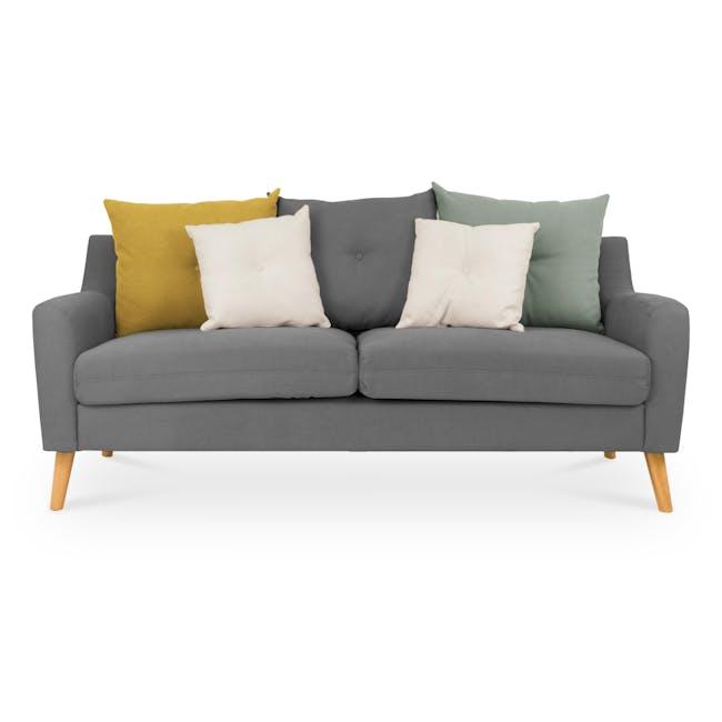 Evan 3 Seater Sofa with Evan 2 Seater Sofa - Charcoal Grey - 2