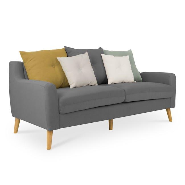 Evan 3 Seater Sofa with Evan 2 Seater Sofa - Charcoal Grey - 3