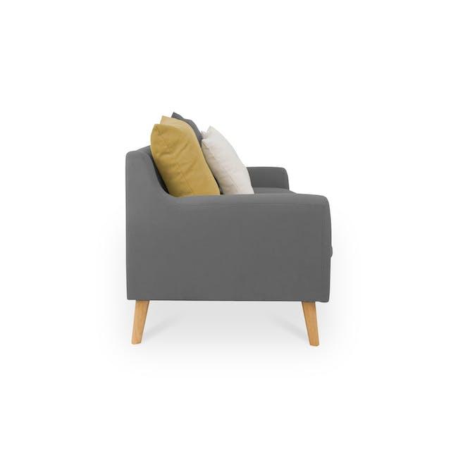Evan 3 Seater Sofa with Evan 2 Seater Sofa - Charcoal Grey - 4