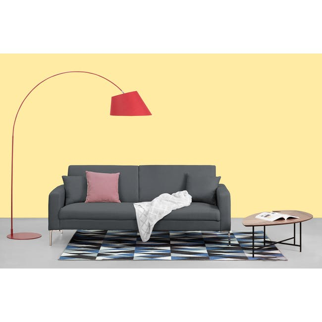 Leslie Sofa Bed - Hailstorm (Fabric) - 2
