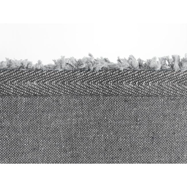 Mia High Pile Rug 3m x 2m - Grey - 4
