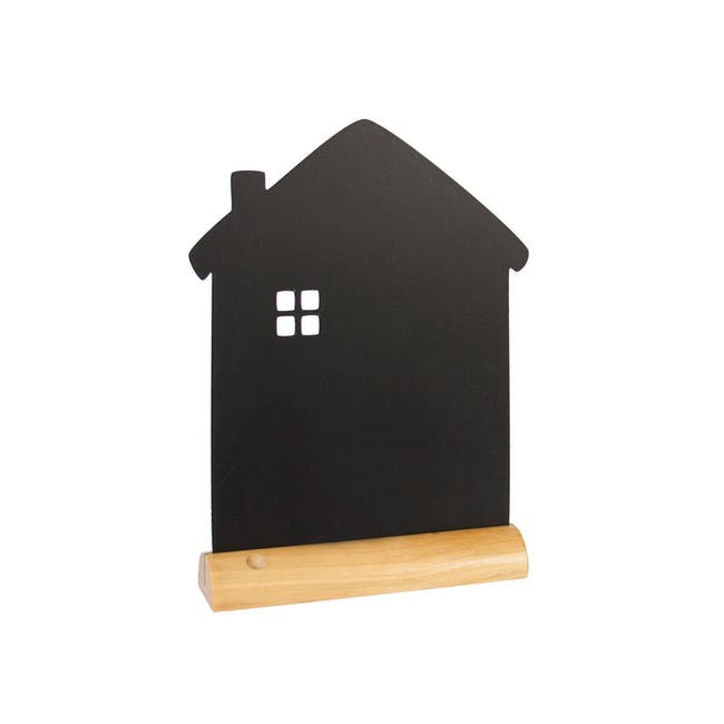 Securit House-Shaped Table Chalkboard - 0